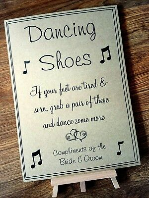 A3/A4/A5 Flip flop, Put on your dancing shoes, Sore feet Vintage Wedding sign
