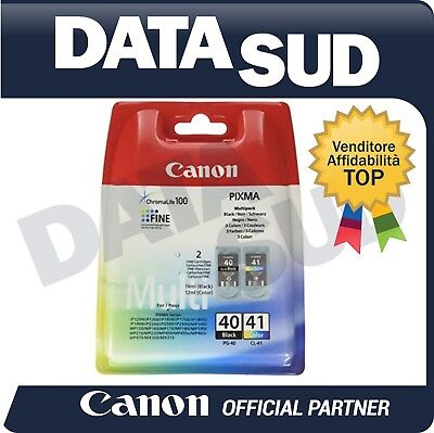 MULTIPACK CANON PG-40 CL-41 ORIGINALE PER iP1200 1300-1600-1700, MP170-190-220