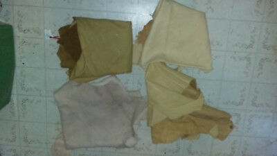Lot Of 4 Nice Deerskins Powwow Crafts Pouches Regalia Venders Crafter Great Deal
