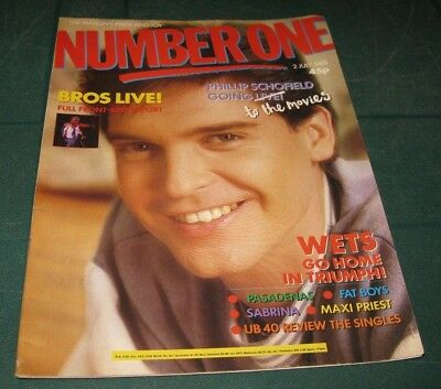No.1 Magazine 2Nd July 1988 - Phillip Schofield Bros Ub40 Sabrina Maxi Priest