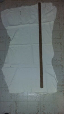2 Nice White Soft Split Leather 1 Full Skin 1 Partial Powwow Crafts Pouches