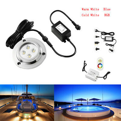 DC12V IP68 LED Underwater Light LED Outdoor Lighting LED Pool Light+Power supply
