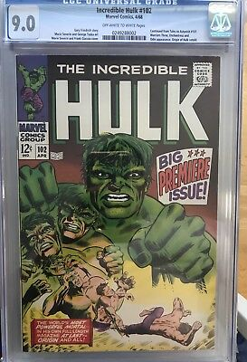 The Incredible Hulk #102 CGC 9.0 - 1st Hulk title after Tales to Astonish 101