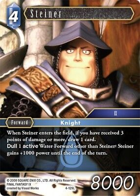 FOIL Steiner	-   4-129L	 - 	Legend  -NM-  Final Fantasy TCG  OPUS 4 IV