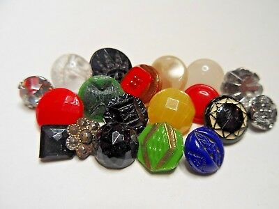 Lot of Small Glass Blouse Buttons...Variety Lot