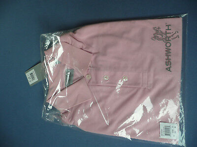 Golf Poloshirt Ashworth Herren Men rose Lotus L XL
