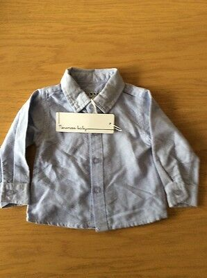 BNWT Boys Blue Shirt By Newness Baby  (6 Months) **FREE UK P&P**