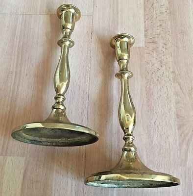Pair Of Vintage Solid Brass Candlestick Holders
