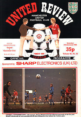 1984/85 Manchester United v Coventry City, FA Cup, PERFECT CONDITION