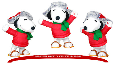 """Gemmy 13"""" Animated Side-Stepper Snoopy Dances To The Song """"Christmas Is Coming"""""""