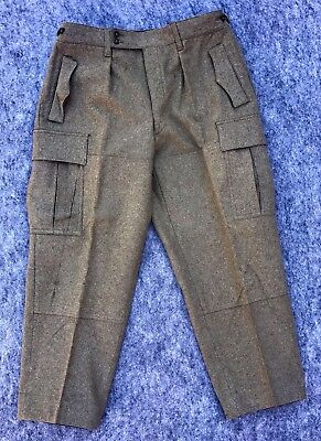 Vintage 1965 SCHILLING OHG. REICHARTSHAUSEN 100% Wool Field Pants Military Green