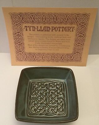 "TYN LLAN Welsh Vintage Studio Pottery Celtic Design Small Deep Dish. 3.75"" x 1"""