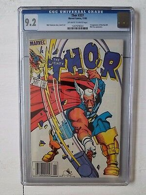 Thor 337 Cgc 9.2 Newsstand Edition Never Read