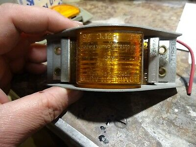Dominion Auto Amber Marker Light Steel Base  Part # 71-2005