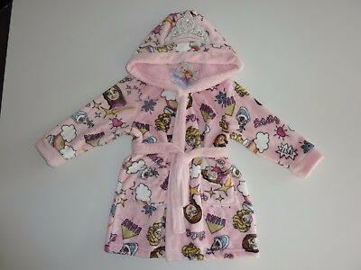 Disney FROZEN Pink Hooded Dressing Gown NWT