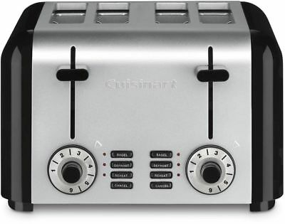 Cuisinart CPT-340 4-Slice Toaster reheat bagel defrost, Brushed Stainless Steel