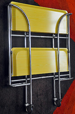 RARE Dinett Serving Trolley Coffee Table in Yellow