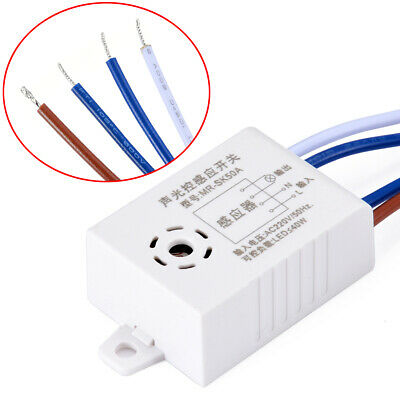 AC 220V Sound Voice Sensor Auto On Off Light Switch Delay Time Photo Control