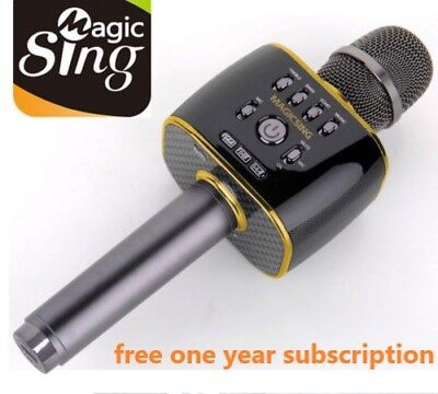 2018 Magic Sing MP30 Bluetooth Karaoke Mic free 1 YEAR code to access 220K songs