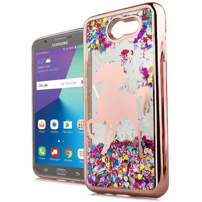 af1459aaec Samsung Galaxy J7 2017 Models - Rose Gold Unicorn TPU Rubber Flowing Liquid  Case