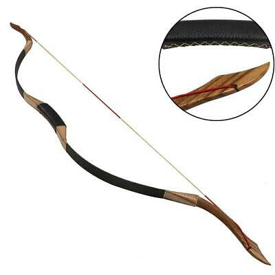 "30Lb 53"" Archery Traditional Recurve Bow Handmade Longbow Target & Hunting"