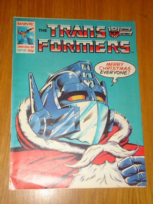 Transformers British Weekly #41 Marvel Uk Comic 28Th December 1985