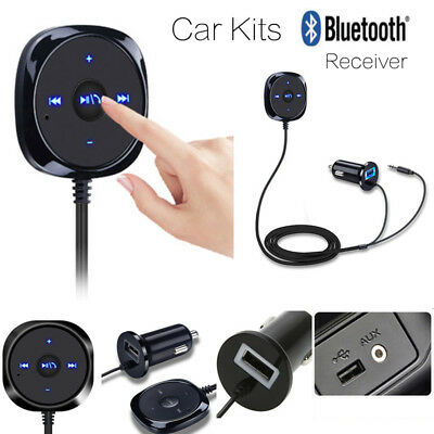 Car Wireless Adapter 3.5mm AUX Receiver Bluetooth Vehicle Audio Music Receiver
