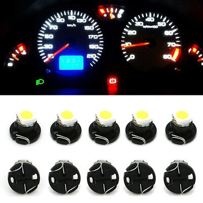 10Pcs White 12V T4.2 1210 Auto Dash Board Instrument LED Light Neo Wedge Gauges