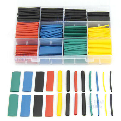 328/530Pcs Heat Shrink Tubing Cable Electric Wire Wrap Sleeve Tube Kit 8 Size