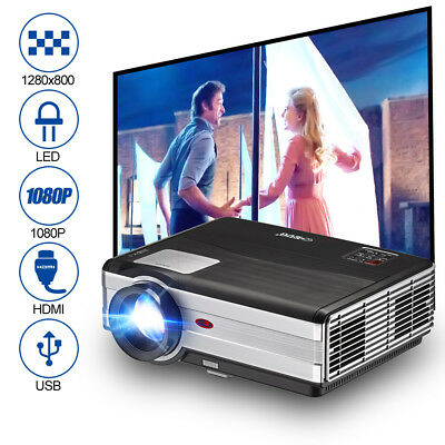 EUG Full HD 1080P 4000Lumens LED Video Heimkino Beamer Projektor HDMI USB 6500:1