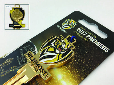 Richmond Tigers 2017 Premiers LIMITED EDITION House Keyblank-IN STOCK NOW!