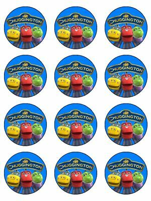 12 CHUGGINGTON Edible Icing Image Birthday Cupcake Decoration Cake Toppers #1