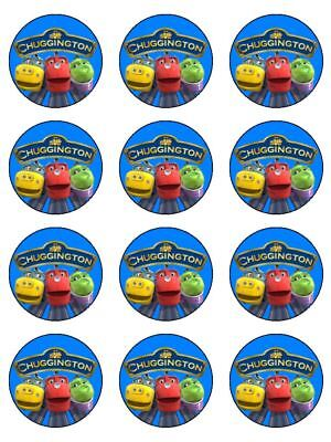 "12 Chuggington 2"" Cupcakes Edible Icing Image Cake Toppers #1"