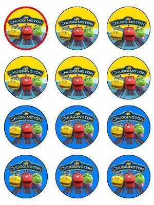 "12 Chuggington 2"" Cupcakes Edible Icing Image Cake Toppers #2"