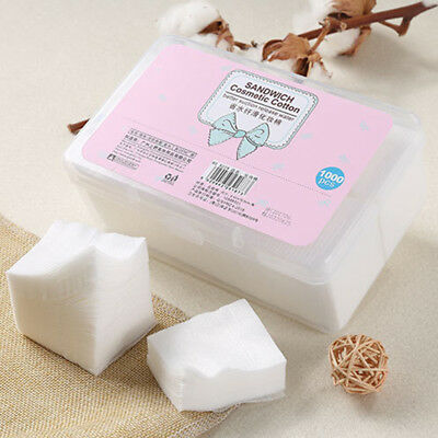 Facial Makeup Cleaning Remover Cotton Puff 1000Pcs Cotton Pads Makeup Tool GK1