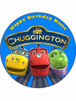 CHUGGINGTON Edible Wafer Paper Birthday Cake Decoration & 12 Cupcake Toppers