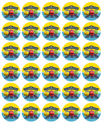 30 CHUGGINGTON Edible Cupcake Toppers Wafer Paper Birthday Cake Party Decoration