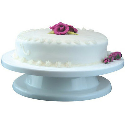 CAKE - Plastic Circular 27cm / 11 inch Cake Decorating Turntable - White ZAP1283