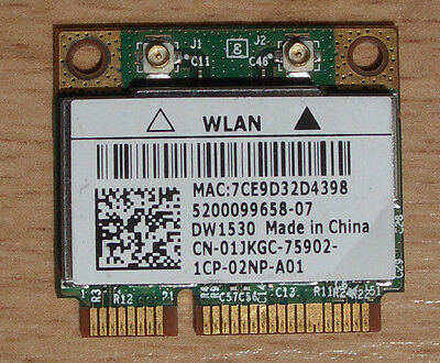 Dell Lattitude E6420 WiFi DW1530 Wlan Model:BCM943228HM4L  802.11a/b/g/n