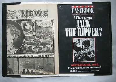 Murder Casebook Special Issue with newspaper of the day Who was Jack the Ripper?