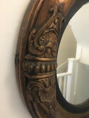 Circular Antique Chinese Chippendale Regency mirror with original mirror plate