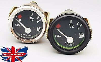 "2"" 52mm Universal Car SUV Fuel Level Gauge Meter  E-1/2-F Pointer black & chroem"