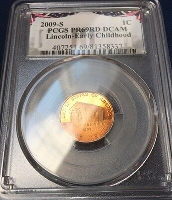 2009 S Lincoln Early Childhood PCGS Proof PF 69 RD DCAM One Cent Penny