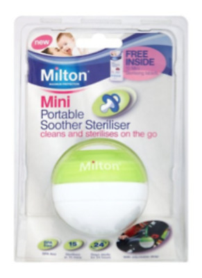 Milton Mini Portable Soother Pacifier Dummy Steriliser Pink  Blue +10 tabs free
