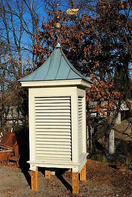 5 ft square, 14 ft tall - Cupola with Copper Roof & Weathervane