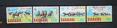BARBADOS 1969 Horse Racing Horses. Set of 4. USED. SG381/384.