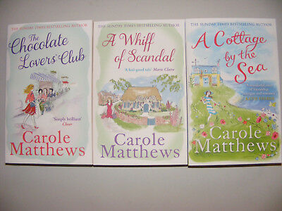 Set Of 3 Brand New Carole Matthews Books Inc.The Chocolate Lover's Club
