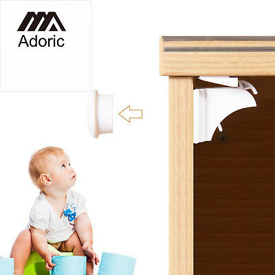 Adoric Magnetic Child Safety Cabinet Locks (6 Locks/2 Keys) with 3M Adhesive...