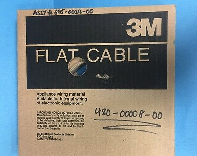 NEW 3365/10 100 feet of 3M Round Conductor Flat Cable 100'