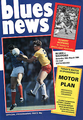 1983/84 Birmingham City v Watford, FA Cup, PERFECT CONDITION